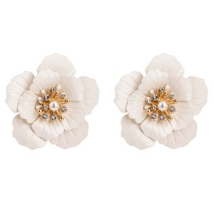 Wholesale Europe And The United States Brand Women Acrylic Oil Drop Flower Earrings