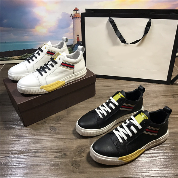custom men Sneakers cowhide leather causal shoes size 38 to 46