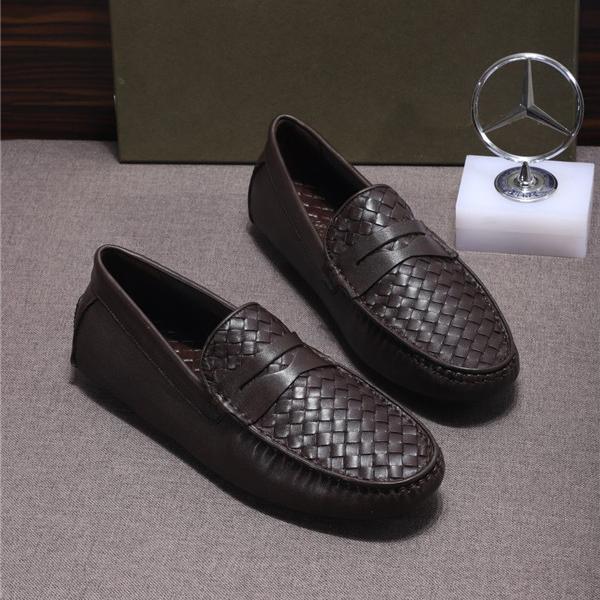 Custom Made Nappa Leather Shoes Coffee Braid Sheepskin Flat Casual Shoes