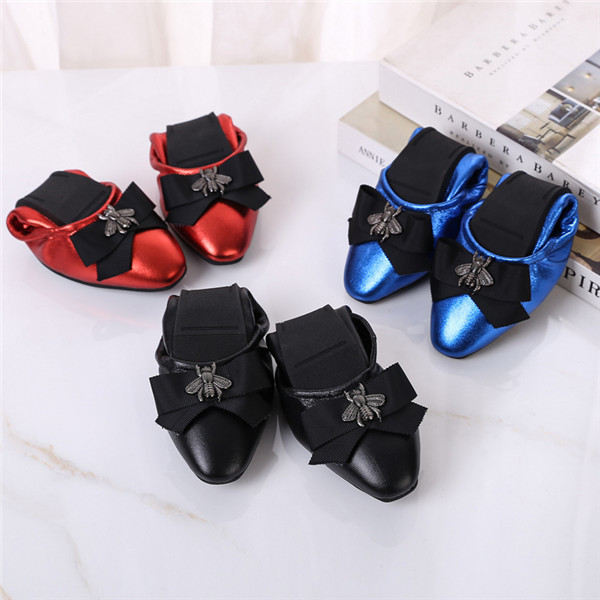 Genuine Leather Shoes Women Shoes With Bowknot