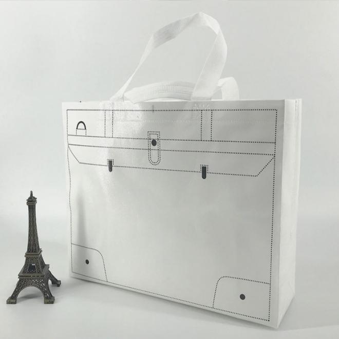 Printed Tote Bag Foldable Reusable Shopping Folding Non Woven Bag With Handle