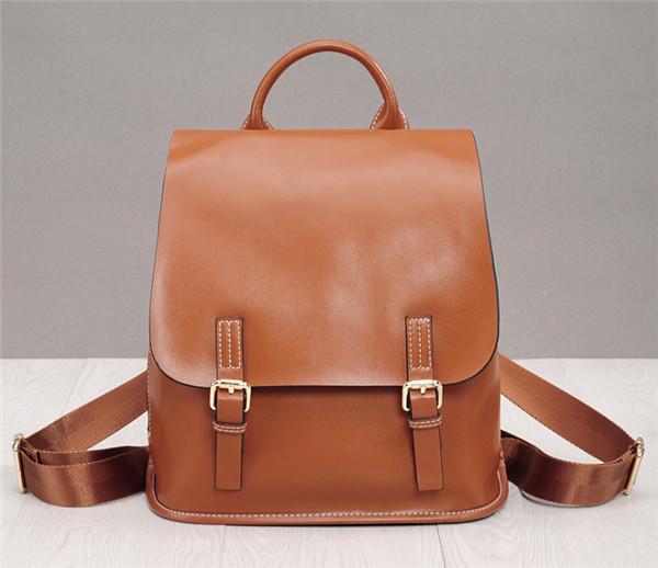 Oil Wax Leather Backpack For Women Korean Version Leisure Lovers Backpacks