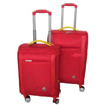20/24/28 inches 3pcs nylon soft side luggage set with 4 wheels