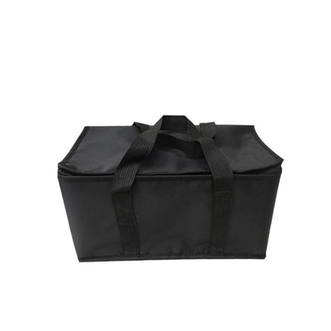 Zipper Black Cooler Bag Waterproof Extra Large Insulation Bag Picnic Lunch Foil Cooler Bag For Food Fresh Keeping