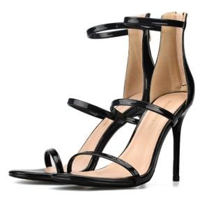 Black High Heel Designer Sandals Supplier