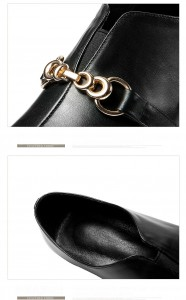 2019 spring new fashion European and American pointed leather shoes thick-heel shoes trendy shoes manufactory