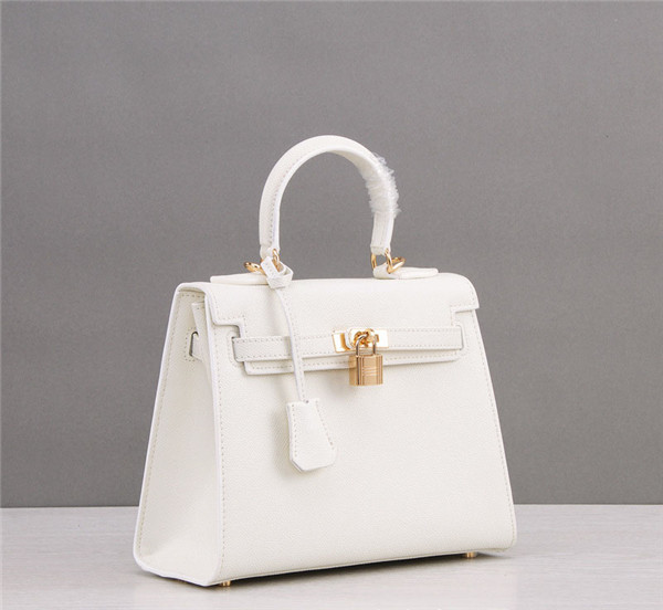 White Palmprint Leather Bags Woman Kelly Bags Handbags Factory