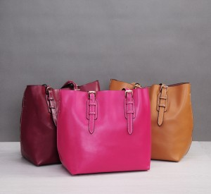 Custom Made Shopping Bags Ladies Oil Wax Leather Shoulder  Bag