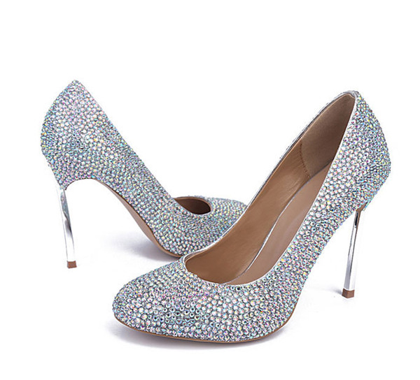 Custom Women Exquisite Stiletto Shoes Genuine Leather
