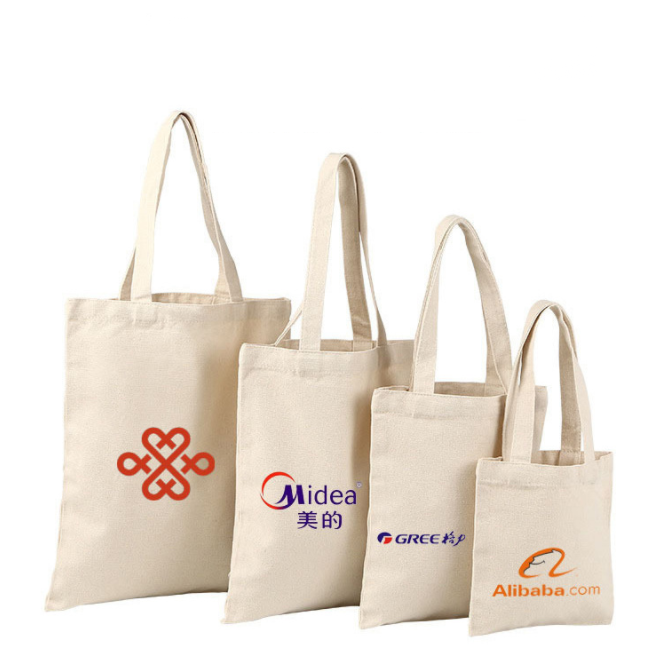 OEM blank customize your logo shopping canvas cotton tote bag