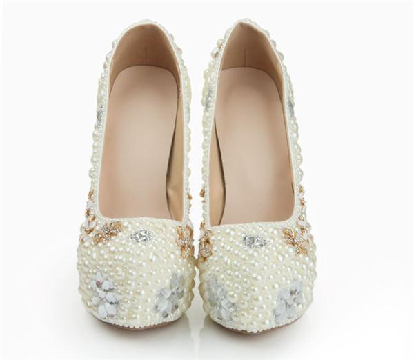 14cm Super High Heel Women Luxury Platform Shoes White