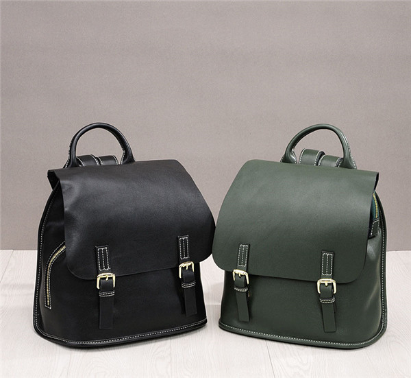 High Quality Fashion Oil Wax Leather Backpack For Both Women And Men