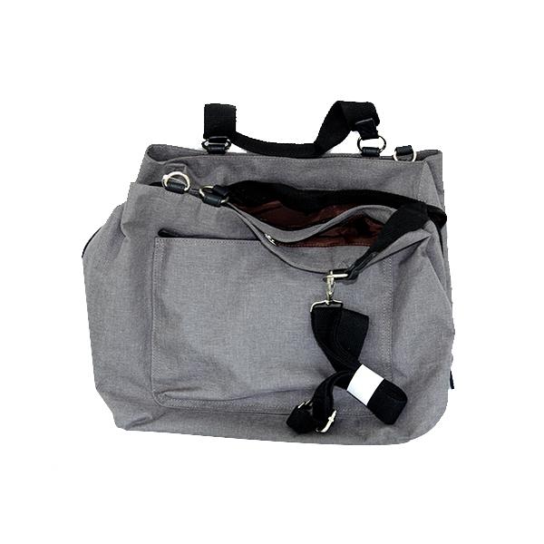 Grey nylon handbag