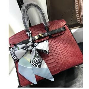 High Quality Famous Brand Bags Handbags Fashion Red Snakeskin Handbags 30cm & 35cm