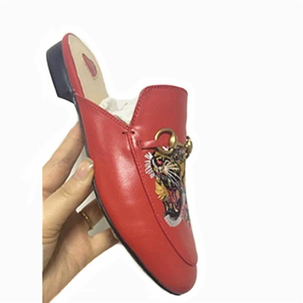 designer red leather flat shoes for women and men casual shoes Exporter