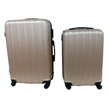 2-piece ABS hard-shell rolling luggage with double wheels