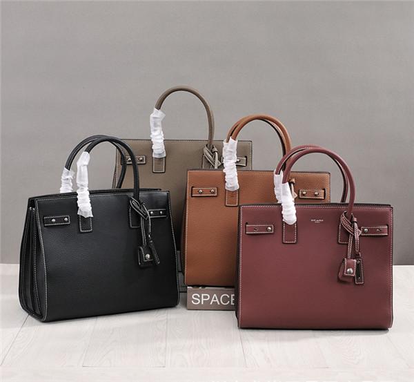 Women Classical Handbags Famous Brand Bags Litchi Cowhide