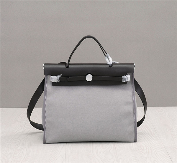 OEM Made Brand Designer Bags High Quality Cowskin With Canvas Kelly Tote Bags