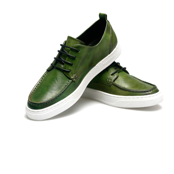 New Fashion Green Cowhide Brand Designer Sneakers Featured Image