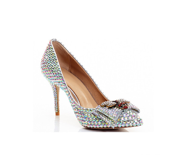 Wholesale Women Crystal Pointed Dress Shoes Featured Image