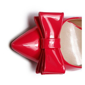 Red Patent Leather Dress Shoes Fashion