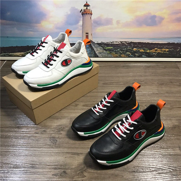 OEM Italian Mens Running Sneaker Cowhide Leather Mens Leather Lace-Up Shoes Size 38 To 46