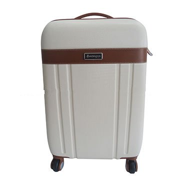 ABS spinner luggage with double-tube trolley