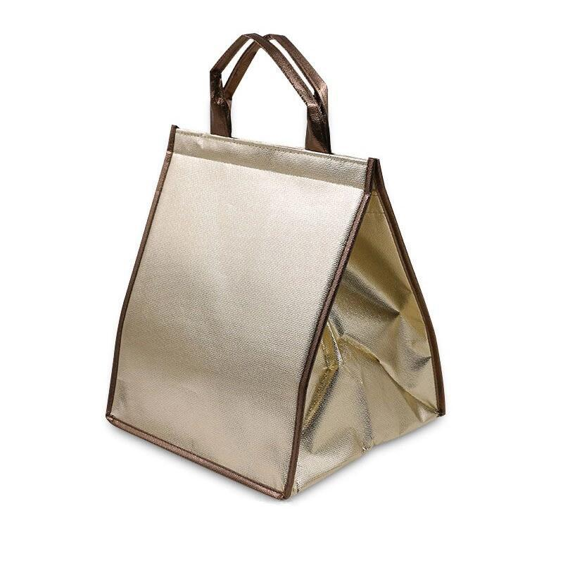 Picnic Ice Pack Thermal Food Delivery Drink Carrier non woven insulating lunch cooler bag