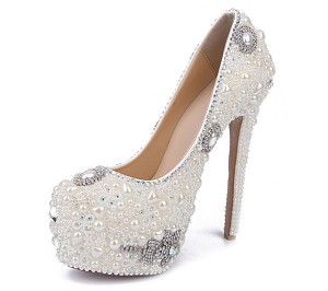 16cm Super High Heel Waterproof Women Round Toe Platform Shoes