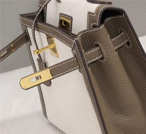 Factory Direct Sales Designer Handbags For Women Canvas Bags Linen Grey Leather Shoulder Strap