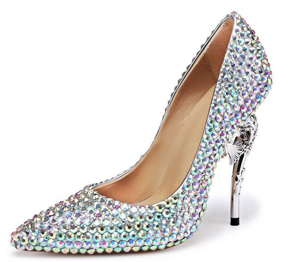 Colorful Rhinestone Diamond Private Label Shoes