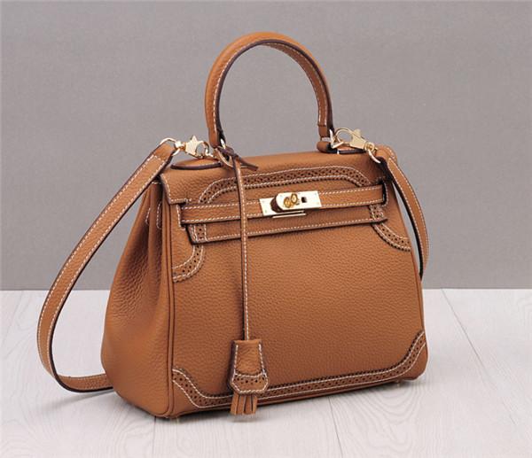 OEM Nice Quality Custom Leather Handbags Ladies Purse Can Wear As Satchel Bag