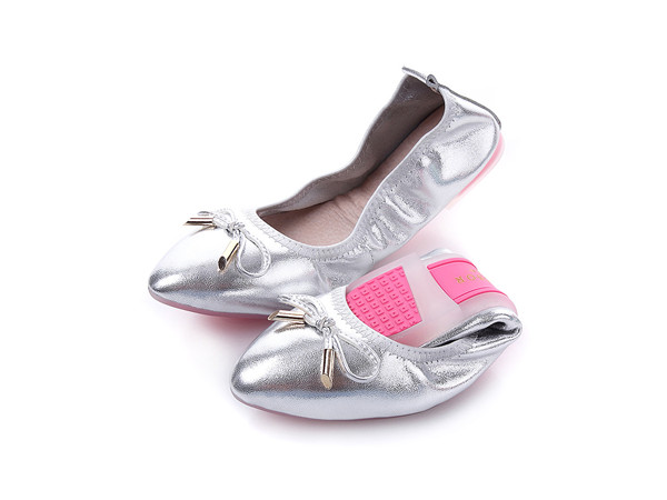 OEM Made Private Label Flat Shoes Maternity Shoes With Pink Transparent Sole
