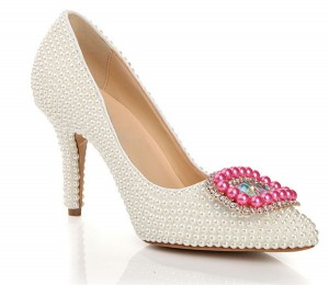 Women Rhinestone Pointed Dress Shoes With Buckle