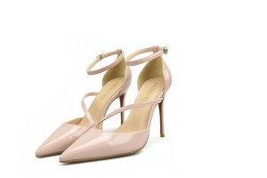 Nude Leather Sandals Big Yard Size Women Formal Shoes