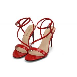 white sexy Stiletto ankle strap sandals