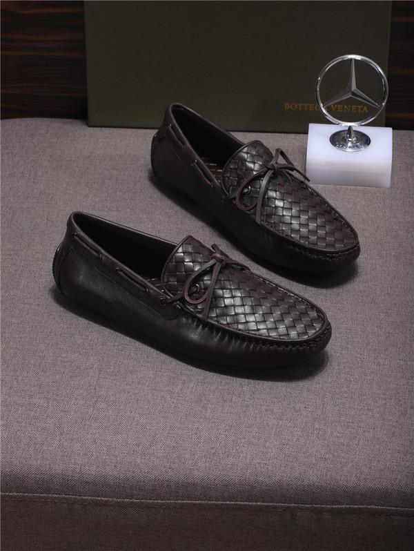 Custom Made Men Italian Dark Brown Nappa Shoes Coffee Braid Sheepskin Loafers