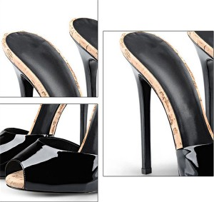 10cm High Heel Party Shoes Women Cowhide