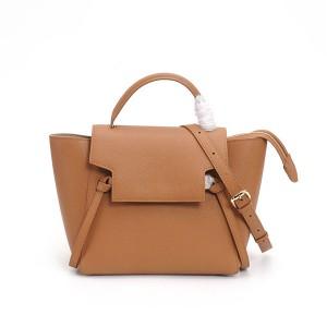OEM Designer Classical Handbags Ladies Camel Italian Leather Tote Bags