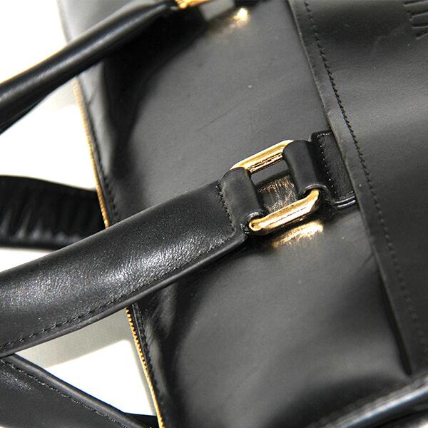 Leather men's bag men's handbag business bag 15 inch computer bag briefcase double main bag black