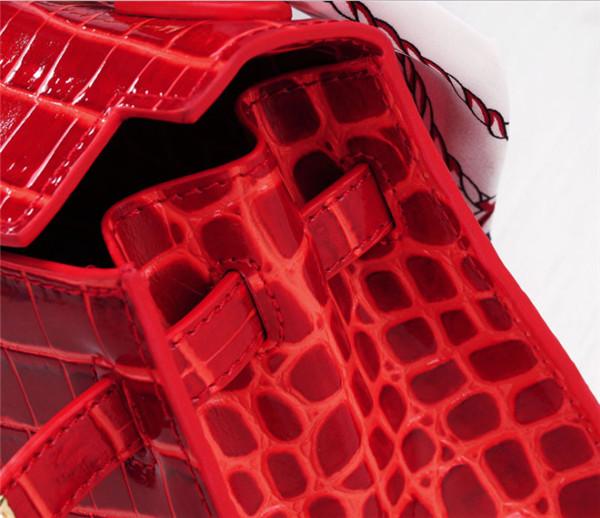 Crocodile Grain Leather Handbags For Women Brand Name Handbag