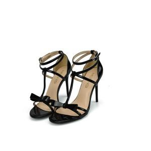 Most Popular Plus Size Black Sexy Ankle Strap Sandals Stiletto