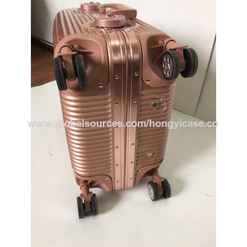 ABS PC trolley luggage with aluminium frame