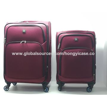 600D polyester luggage set with trolley
