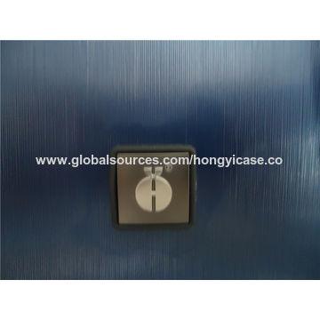 OEM factory dark blue trolley ABS brush suitcase