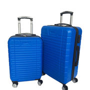 Blue PC luggage case for tavelling