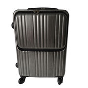 Brush ABS luggage bag with trolley