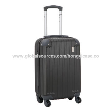 Cheap price colorful luggage bag with trolley, made of ABS