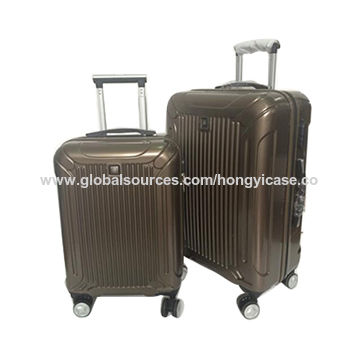 China factory ABS PC trolley luggage with 4 wheels