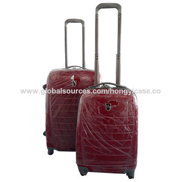 China red PC trolley luggage